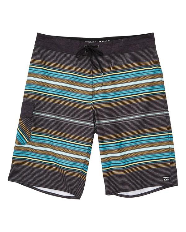 0 All Day Stripe OG Boardshorts Grey M160TBAD Billabong