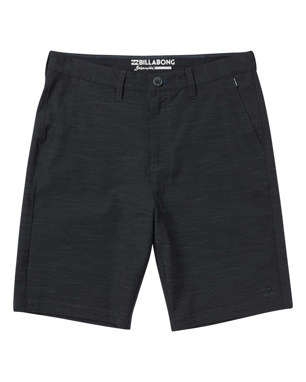 0 Crossfire X Slub Submersibles Shorts Black M203NBCS Billabong