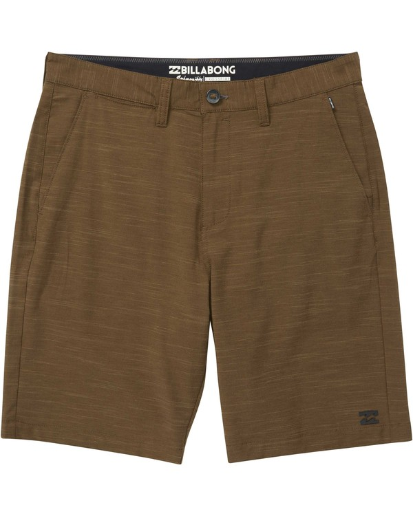 0 Crossfire X Slub Submersibles Shorts Brown M203NBCS Billabong
