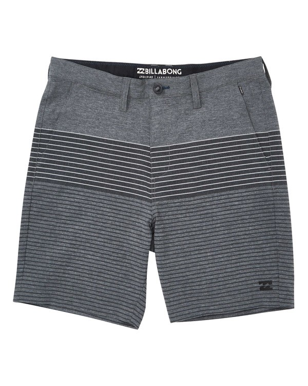 0 Crossfire X Stripe Striped Shorts Grey M206TBCS Billabong