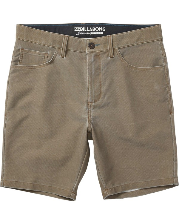 0 Outsider X Surf Corduroy Submersible Shorts Brown M210JPCS Billabong