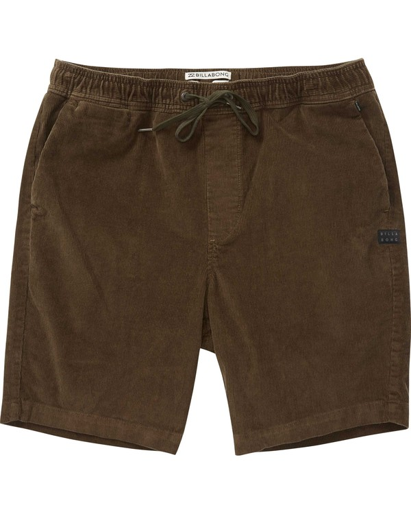 0 Larry Layback Cord Shorts Brown M240QBLC Billabong