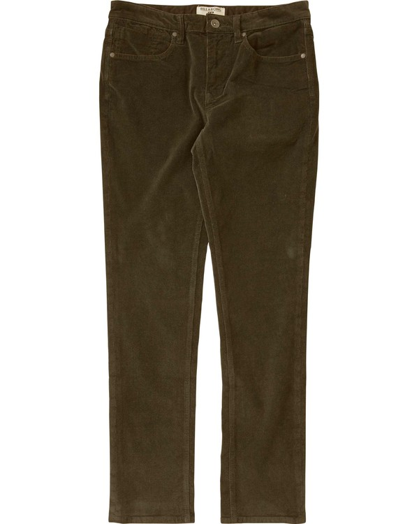 0 Outsider Cord Pant Brown M306LOUC Billabong