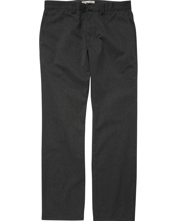 0 Carter Stretch Chino Pants Black M314QBCS Billabong