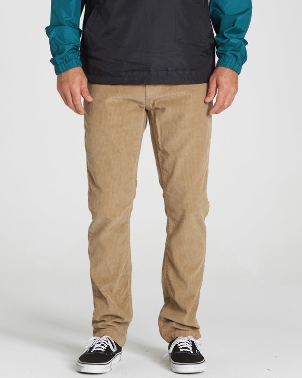 0 Outsider Cord Pant Grey M316QBOU Billabong
