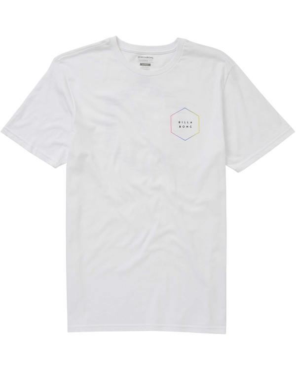 0 Access Border Tee White M401PBAC Billabong