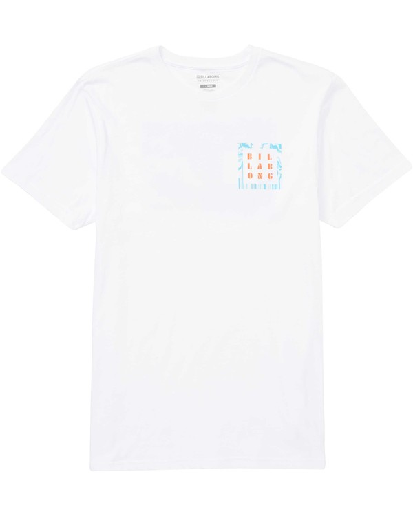 0 Warped Tee White M401QBWP Billabong