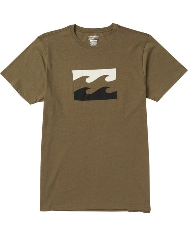 0 Wave Tee Shirt Green M401SBWA Billabong