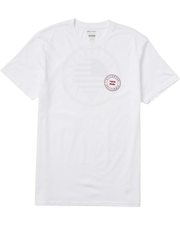 0 Native Rotor USA Tee White M404LNUS Billabong