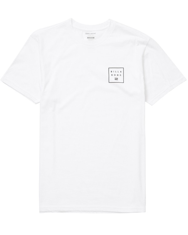 0 Stacked Tee White M404NBST Billabong