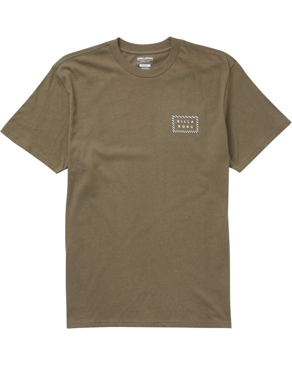 0 Border Die Cut Tee Green M404PBBO Billabong
