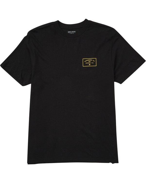0 Nowhere Tee Black M404QBNO Billabong