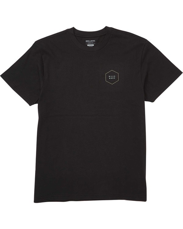 0 Access Border Tee Black M404TBAB Billabong