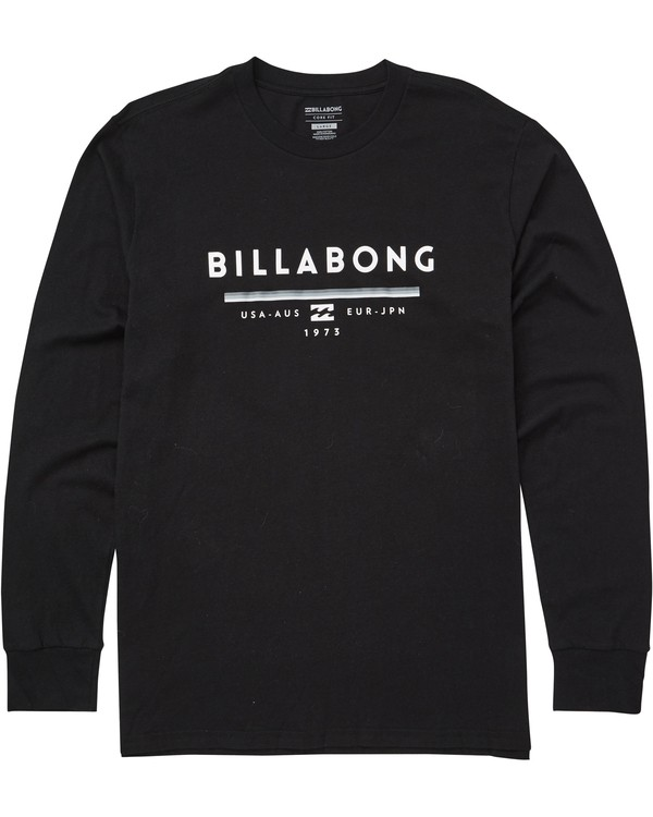 0 Unity Long Sleeve Tee Black M405QBUN Billabong