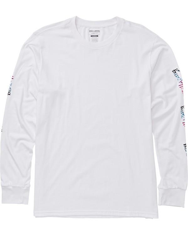 0 Eighty Six Long Sleeve Graphic Tee Shirt White M405SBES Billabong