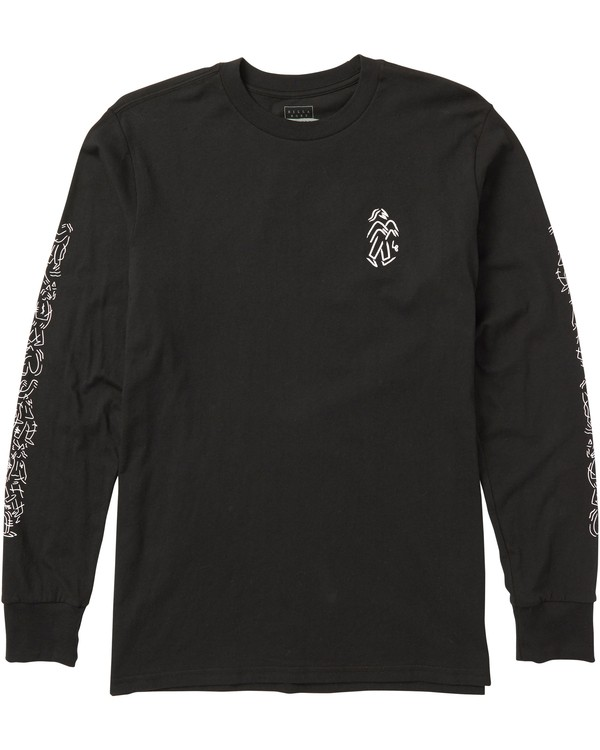 0 Gamin Long Sleeve Tee Shirt Black M405SBGA Billabong