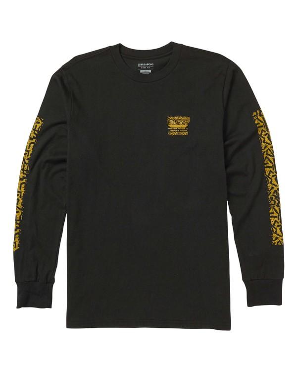 0 Haze Long Sleeve Graphic Tee Shirt Black M405SBHA Billabong