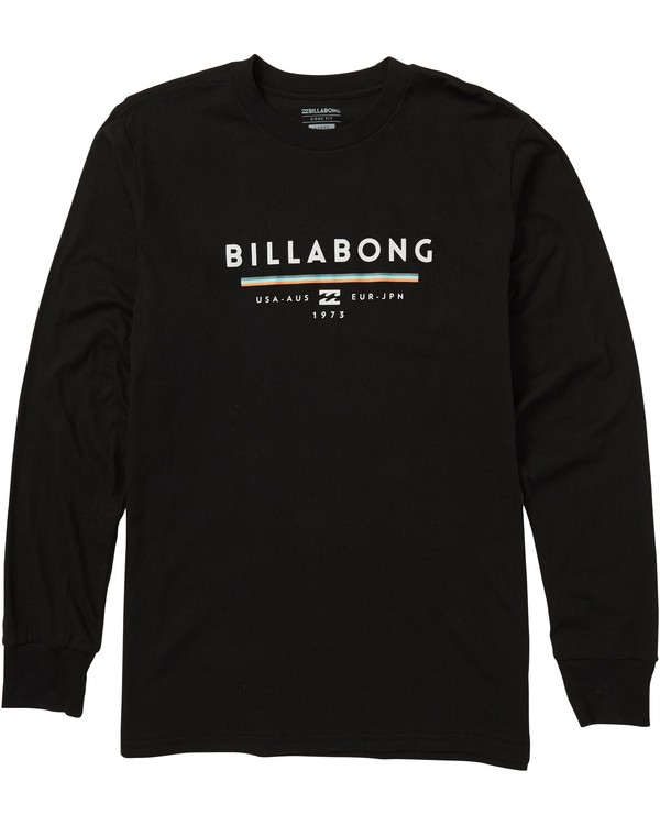 0 Unity Long Sleeve Graphic Tee Shirt Black M405SBUN Billabong