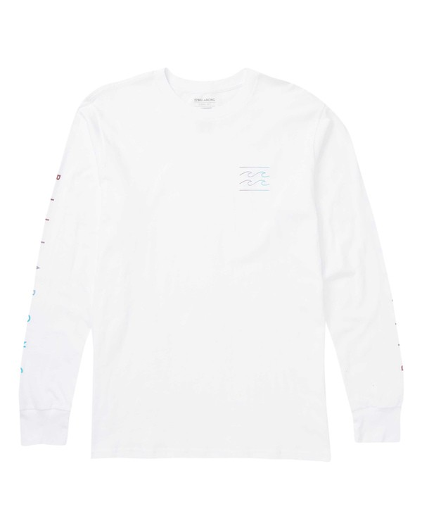 0 Unity Sleeves Long Sleeve Graphic Tee Shirt White M405SBUS Billabong