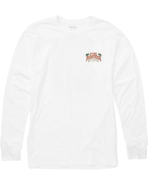 0 Banzai Long Sleeve Tee White M405TBBZ Billabong