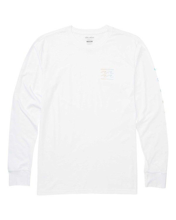 0 Unity Sleeves Long Sleeve Tee White M405TBUS Billabong