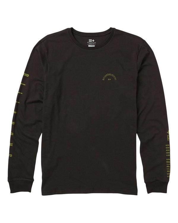 0 Franklin Eco-Friendly Long Sleeve Tee Shirt Black M408SBFR Billabong