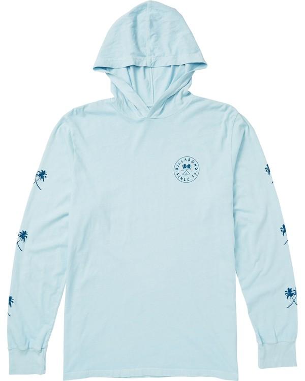 0 Tendencies Hooded Long Sleeve T-Shirt Blue M410SBTE Billabong