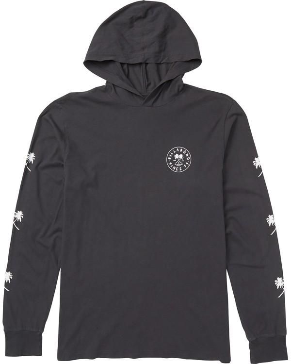 0 Tendencies Hooded Long Sleeve T-Shirt Grey M410SBTE Billabong