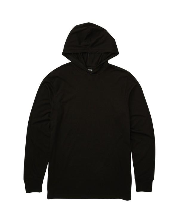 0 Crestline Long Sleeve Hooded Tee Black M416TBCL Billabong