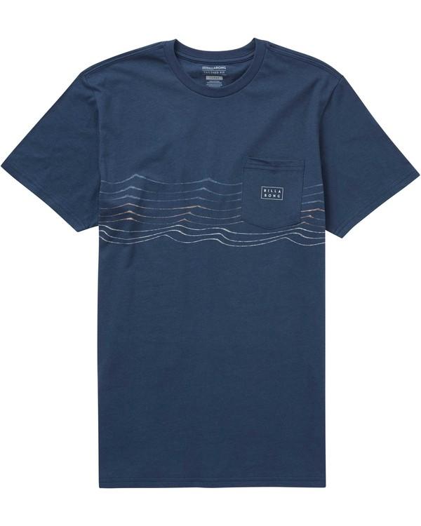 0 Die Cut Stripe Tee Blue M431PBDS Billabong