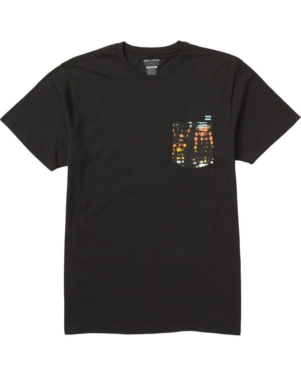 0 Team Pocket T-Shirt Black M431SBTP Billabong
