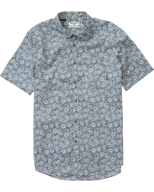 0 Sundays Mini Short Sleeve Shirt Brown M500LSUM Billabong