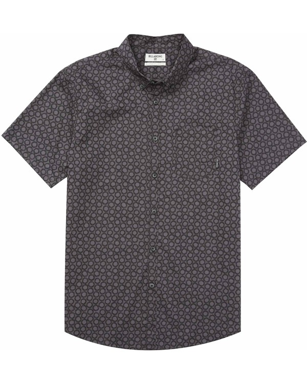 0 Sundays Mini Short Sleeve Shirt Black M500MSUM Billabong