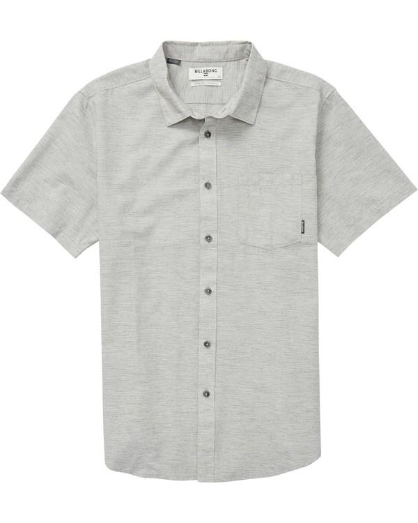 0 All Day Helix Short Sleeve Shirt Grey M500NBAL Billabong
