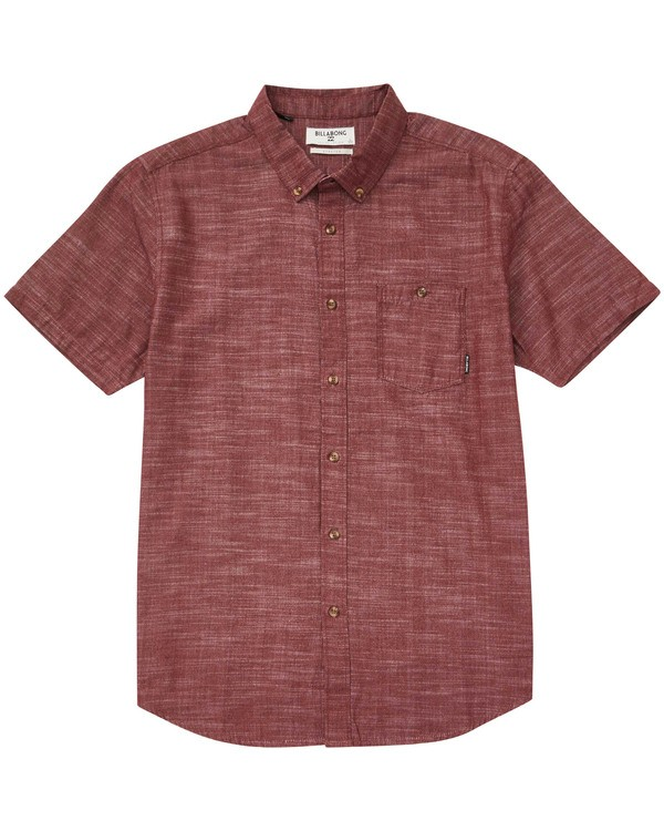 0 All Day Short Sleeve Shirt Red M500TBAL Billabong