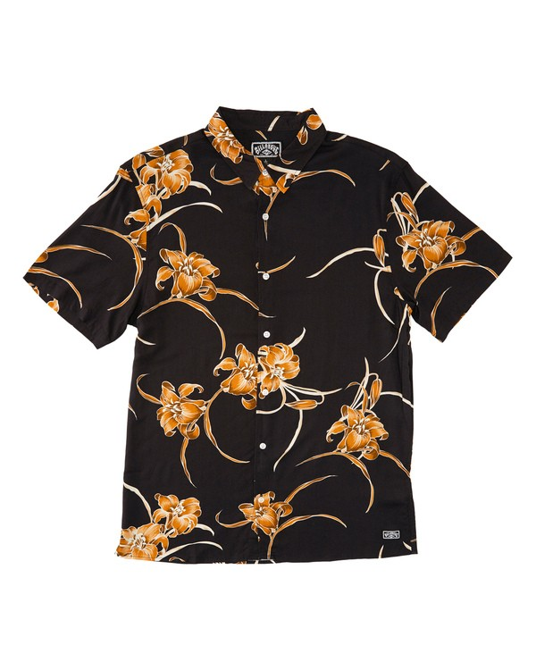 0 Sundays Party Short Sleeve Shirt Black M500TBSE Billabong