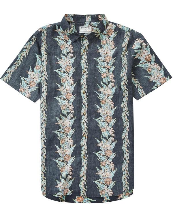 0 Sundays Floral Short Sleeve Shirt Grey M501LSUF Billabong