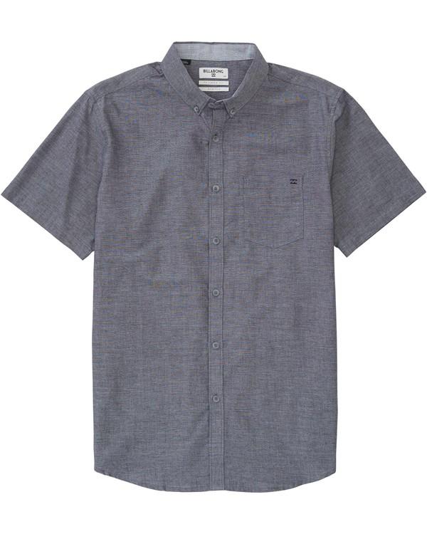 0 All Day Chambray Short Sleeve Shirt  M502GALL Billabong