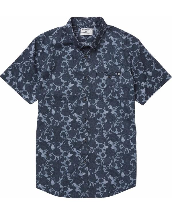 0 Sundays Mini Short Sleeve Shirt Black M502NBSM Billabong