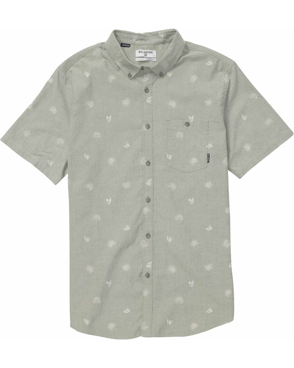 0 Sundays Mini Short Sleeve Shirt Beige M502NBSM Billabong