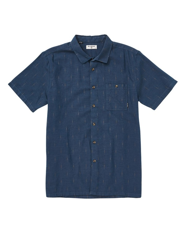 0 Sundays Jacquard Short Sleeve Shirt Blue M502TBSJ Billabong