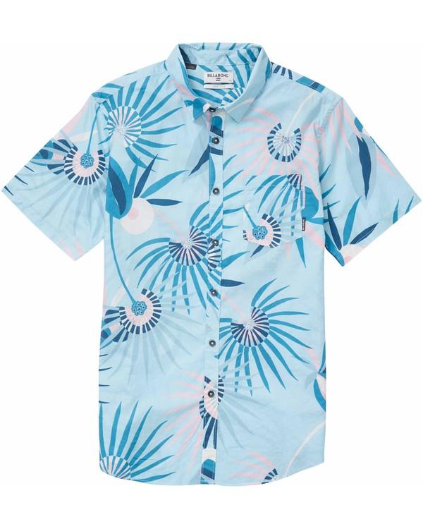 0 Sunday Floral Short Sleeve Shirt Blue M503NBSF Billabong