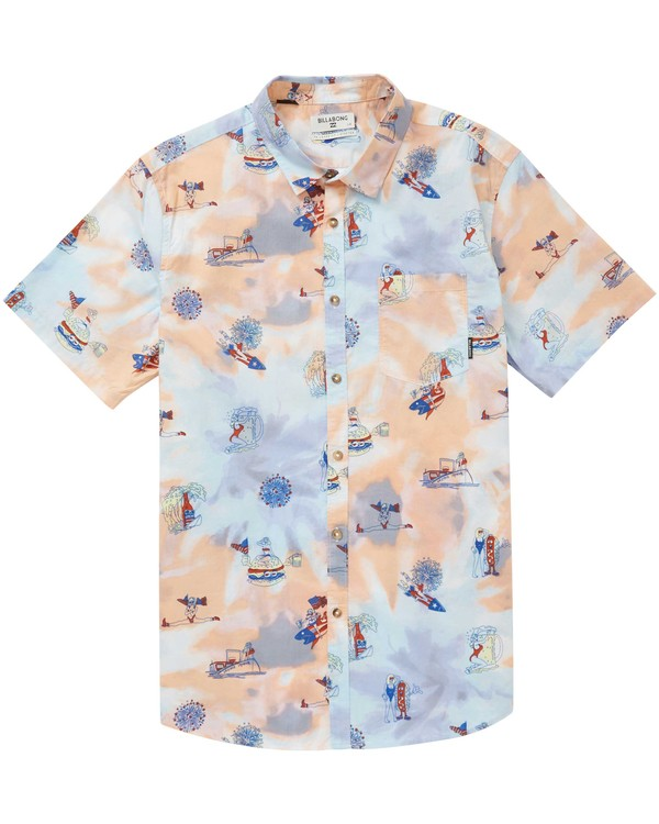 0 Sundays X Floral Short Sleeve Shirt  M503PBSF Billabong