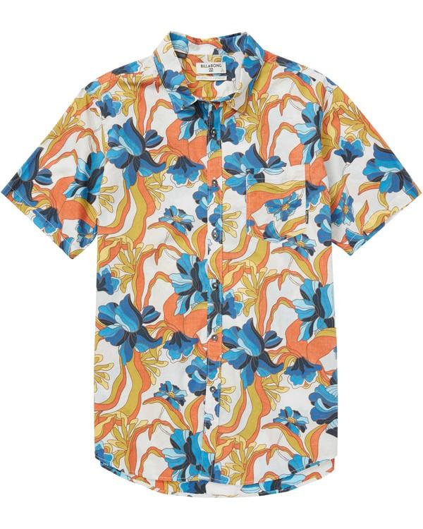 0 Sundays Floral Short Sleeve Shirt Beige M503QBSF Billabong
