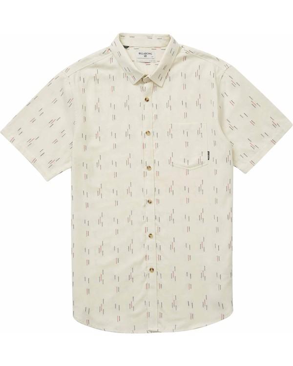 0 Sundays Jacquard Short Sleeve Shirt Brown M504NBSJ Billabong