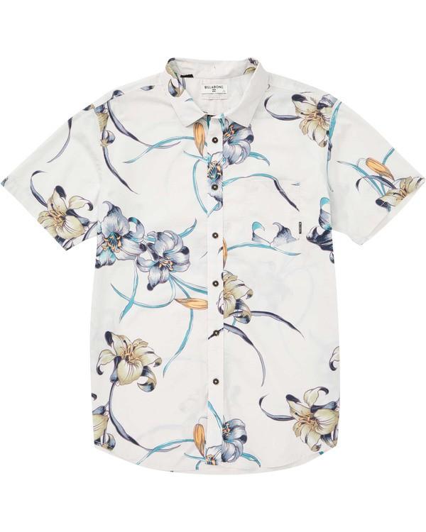 0 Sundays Floral Short Sleeve Shirt Beige M504TBSF Billabong