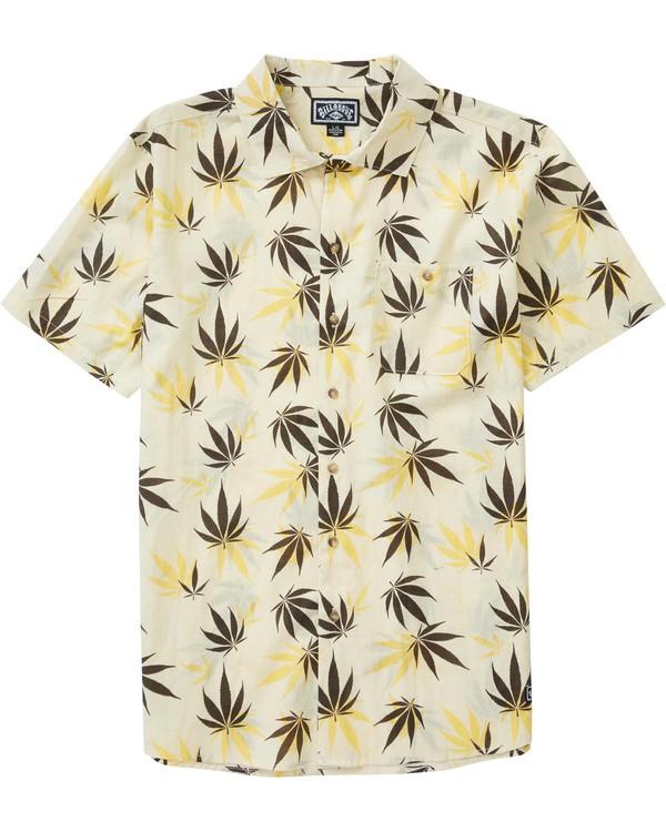 0 Mull Leaf Short Sleeve Shirt Brown M505LMUL Billabong