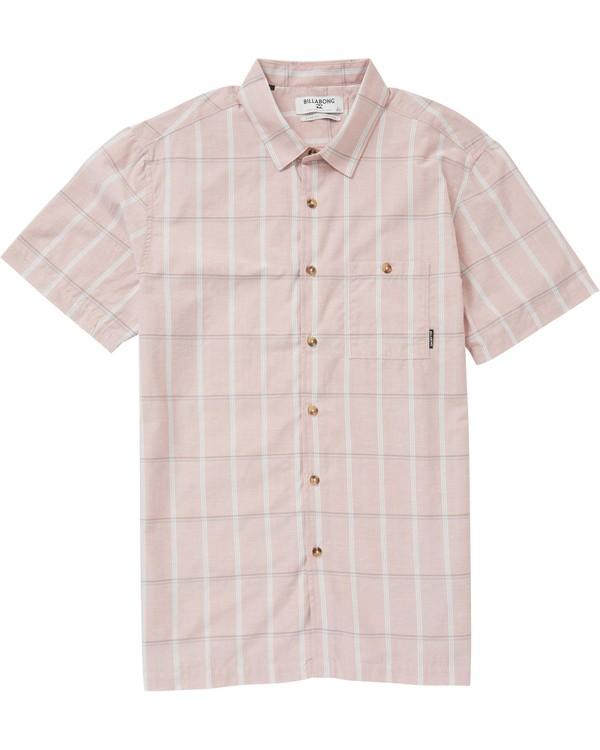 0 Donny Short Sleeve Shirt Red M505PBDO Billabong