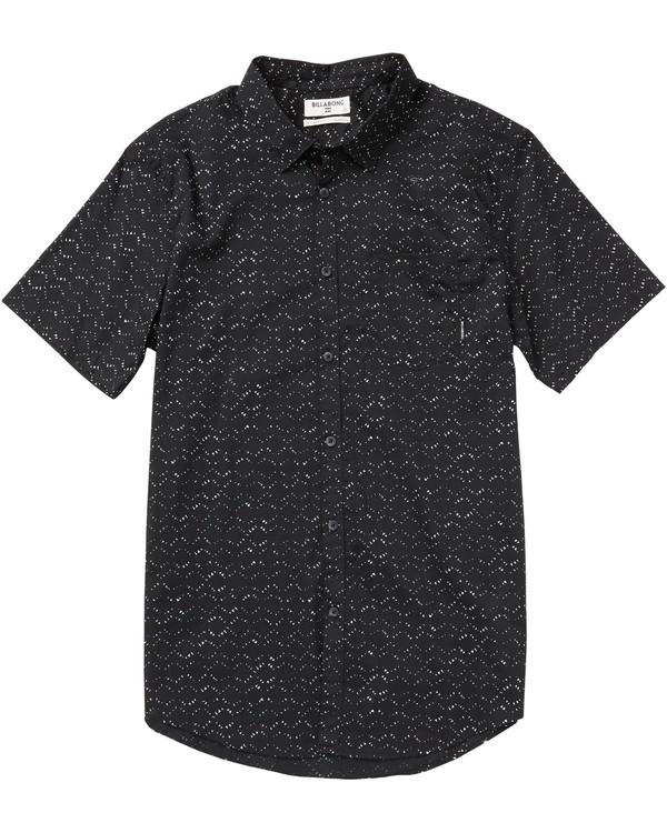 0 Sundays Mini Printed Short Sleeve Shirt Black M505SBSM Billabong