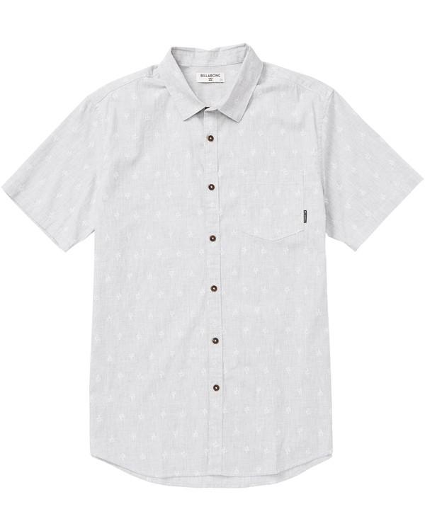 0 Sundays Mini Printed Short Sleeve Shirt Beige M505SBSM Billabong